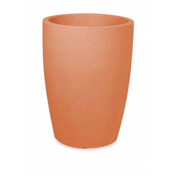"Pflanztopf ""Bassone hoch"", rund, terracotta"