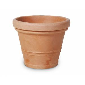 """Pflanztopf """"Ghedi"""", rund, terracotta"""