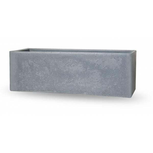 "Pflanzkasten ""Ome"", rechteckig, doppelwandig, zement-grau"