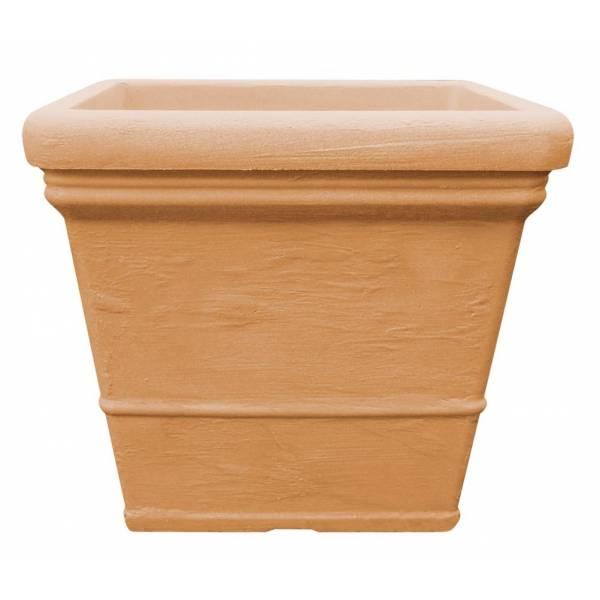"Pflanztopf ""Sona"", quadratisch, terracotta"