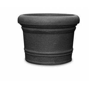 """Pflanztopf """"Lucca"""", rund, schwarz-granit"""