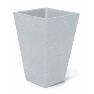 "Pflanztopf ""Parona"", quadratisch, weiß-granit"