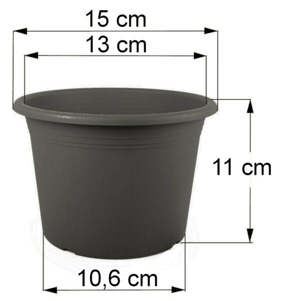Bemaßung Cilindro anthrazit, 15 cm