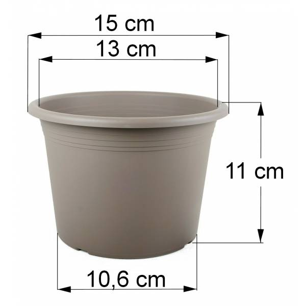 Bemaßung Cilindro taupe, 15 cm