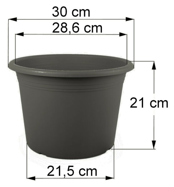 Bemaßung Cilindro anthrazit, 30 cm