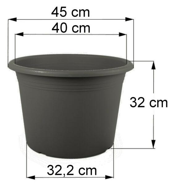 Bemaßung Cilindro anthrazit, 40 cm