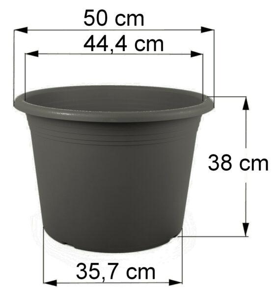 Bemaßung Cilindro anthrazit, 50 cm