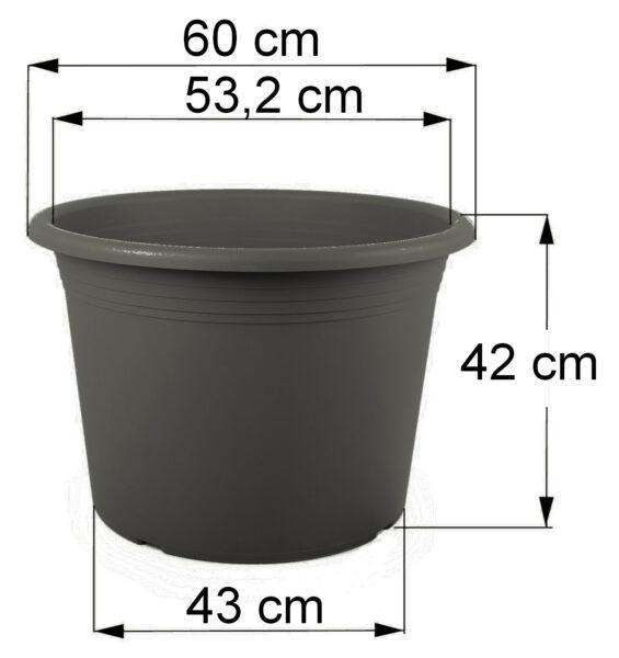 Bemaßung Cilindro anthrazit, 60 cm