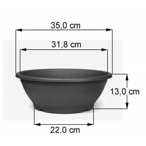 Pflanzschale anthrazit 35 cm