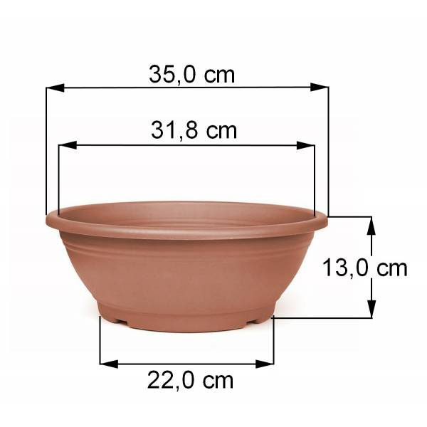 Pflanzschale terracotta 35 cm